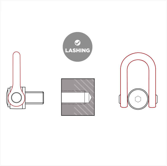 CODIPRO: hoist ring for lashing