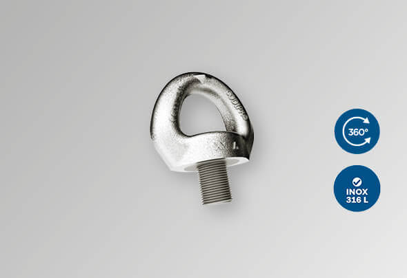 CODIPRO: Stainless steel single swivel lifting ring SS.SEB